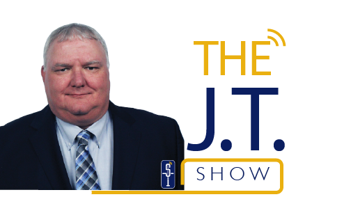 JT show logo with pic