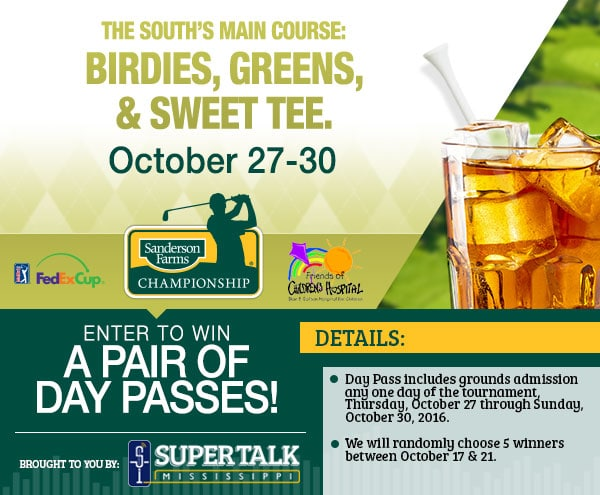 WIN a Pair of Tickets to the Sanderson Farms Championship