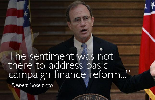 Hosemann Expresses Frustrations with Legislature