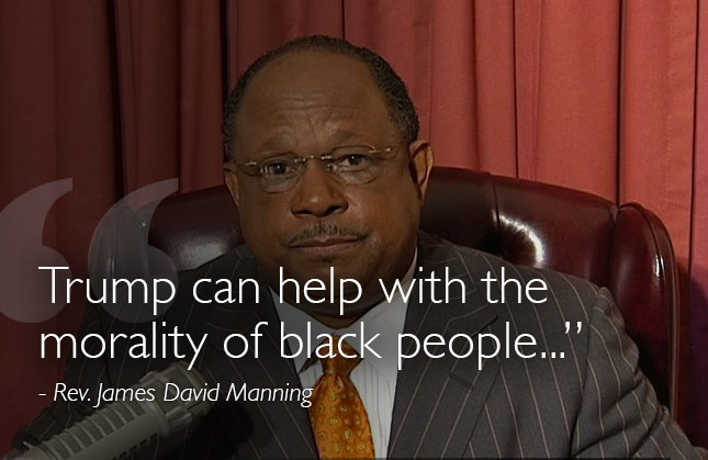 Rev James David Manning on Trump
