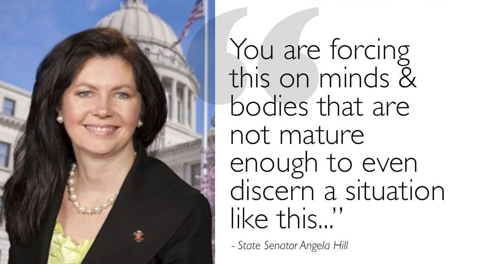 """Senator Angela Hill on MDE's Advisement to Adhere to Obama's """"Social Experiment"""""""