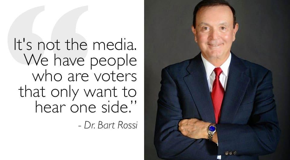 JT vs Dr. Bart Rossi on Media Bias