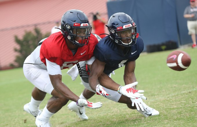 Corral, Luke discuss Rebels' first scrimmage of camp