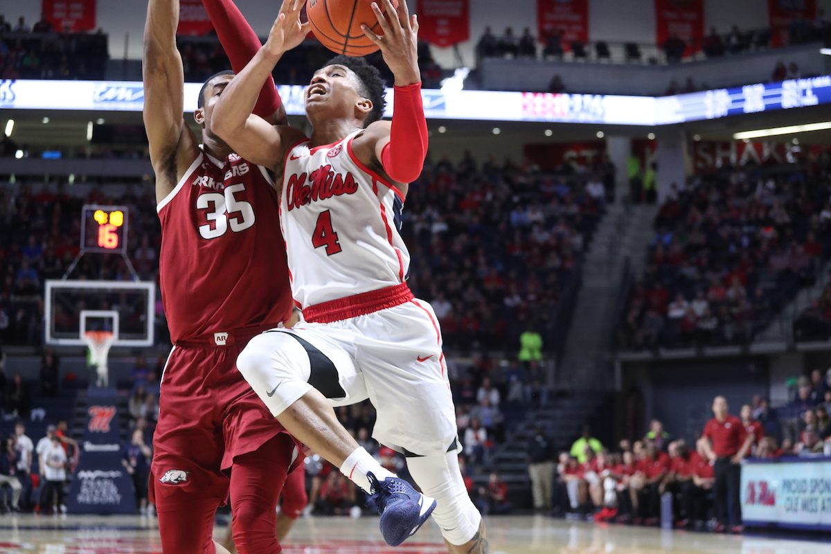 Ole Miss blows double digit lead in 76-72 loss to Arkansas