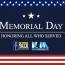 Memorial Day lineup