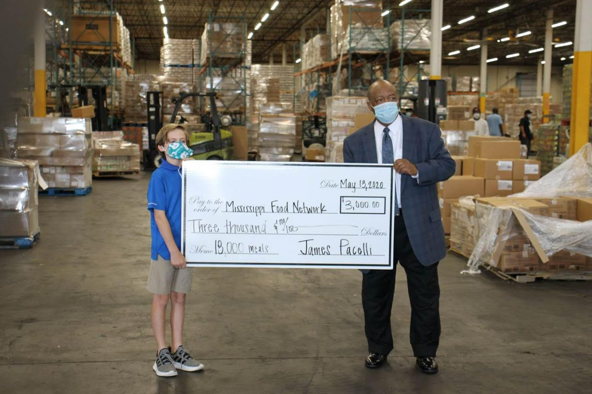 Fifth grader raises $3,000 for the Mississippi Food Network